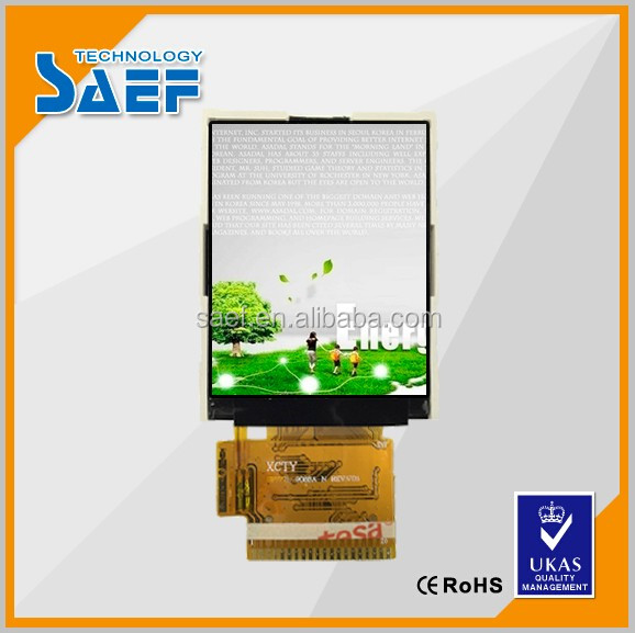 TFT LCD 1.77 inch touch screen MCU interface lcd color screen with Touch panel optional