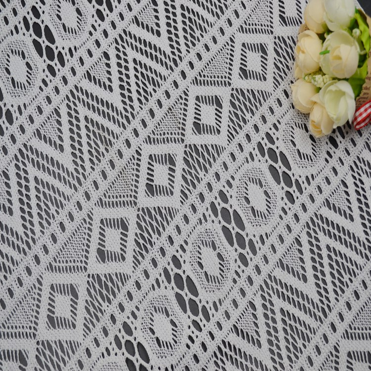 100%poly strip design for garmen off white grace Lace Fabric