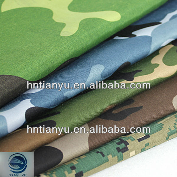 2014 hot sale 100% waterproof cotton camouflage canvas fabric
