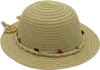 T38-1Wholesale Summer Paper Blink Straw Hat For Child
