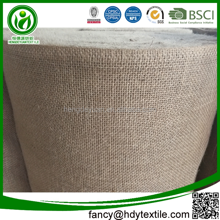 Factory supplying Multifunctional Nature color 100% jute fabric wholesale burlap roll for sale