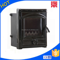 Factory price cast iron wood stove inserts and door classic black