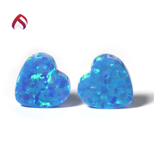 factory price heart shape opal created opal stone 10x10mm