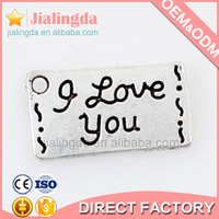 factory fashion letter pendant jewelry locket pendant Rectangle 11063