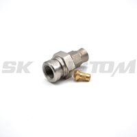 High Quality Stainless Steel Straight Brake Hose Locator Fitting Gas Hose End Connector