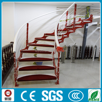 modern steel wood Circle/curve/acr stairs Chinese supplier-YUDI