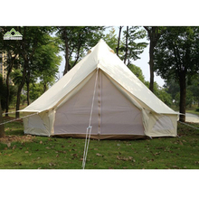 outdoor glamping tent luxury safari lotus 5m large space family camping cotton canvas bell tent for sale