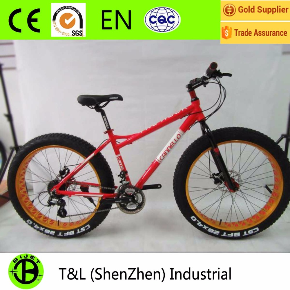 aluminum alloy 26 sand/snow fat bike with 24 speed