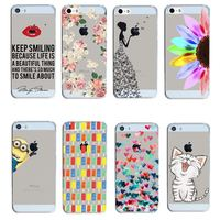 Arrival Hot 22 Styles PC Hard Transparent Phone Skin Back Case Cover For Apple i Phone iPhone 5 5S 5G 6 7 6plus 6 plus