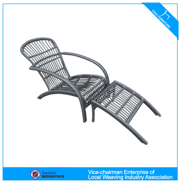 Luxury Outdoor Furniture Rattan Chaise Lounge