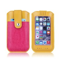 lovely mix colors credit card holder case cover for iphone 6