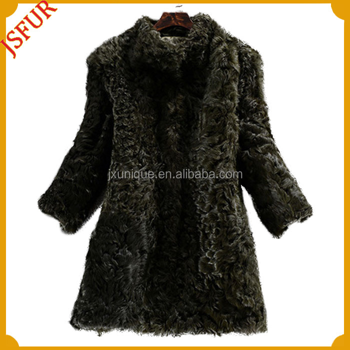 2014 latest style real lamb fur made girl clothing