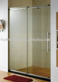 Bathroom sanitary ware 6mm or 8mm tempered glass shower for 1800mm high shower door