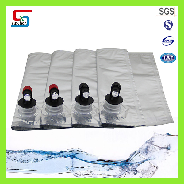 high quality disposable wine bag liquid valve bag with butterfly valve