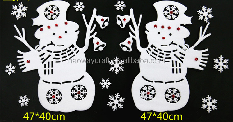 christmas sticky window valance decoration christmas tree decoration for home shopping mall