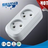 2 outlet power strip multi extension socket
