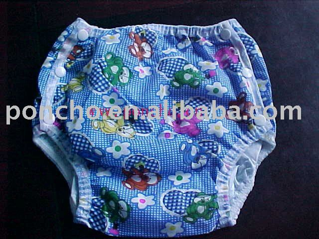 stock washable baby diaper with stars