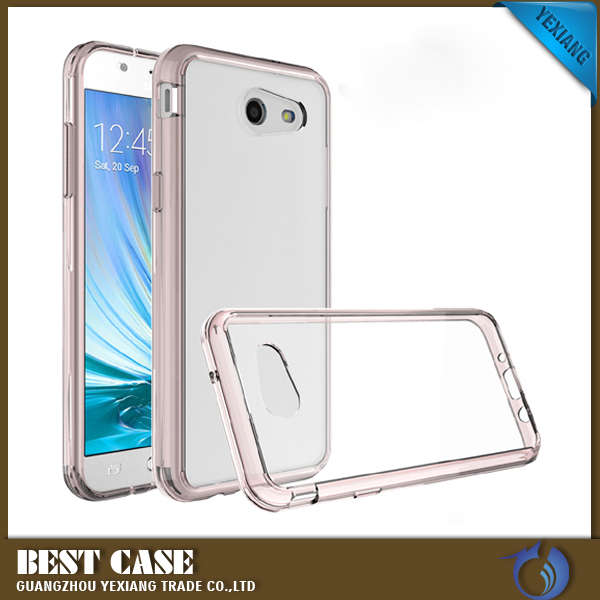 Solid acrylic TPU PC Case For Samsung j3 2017 Smart Phone Ultra Thin Clear Cover