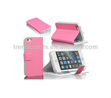 folio wallet leather case for iphone 5, folio pu leather case for iphone 5