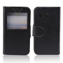 New leather pouch flip case for huawei ascend y320