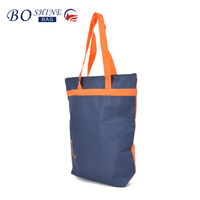 2016 Contrast color cheap custom shopping bag foldable