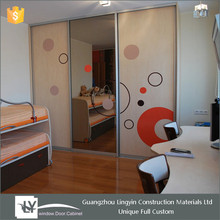 2016 home decoration wardrobe bedroom furniture with mirror door for hot sale in Guangzhou