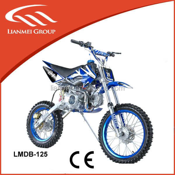 off road dirt bike 125cc big wheel with electric start or kick start