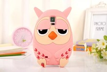 Cute Korea cartoon animal owl soft silicone case For samsung galaxy Note2 N7100 Note3 N9000 Note4