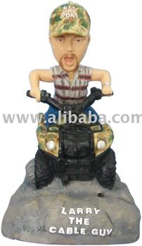 Officially Licensed Larry the Cable Guy TALKING Bobble head toy