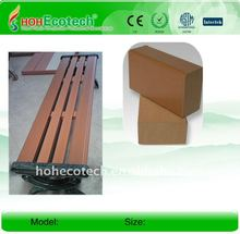 With/without back rest bench waterproof wpc bench wood/bamboo composite bench for park /garden