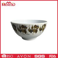 Non-toxic chinese hotel use melamine noodle/rice/soup bowl , plastic bowl with popular design