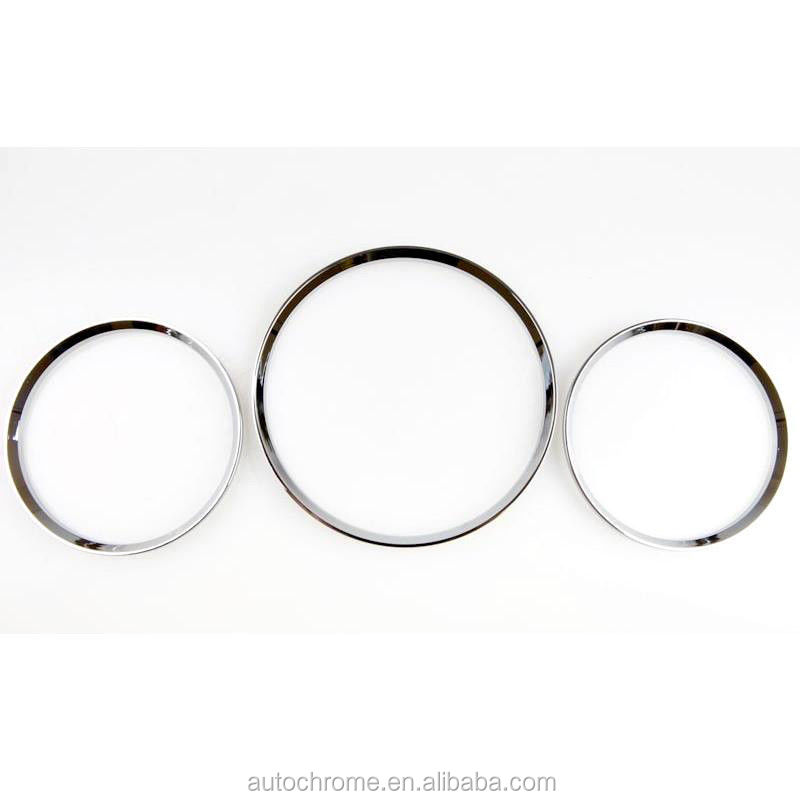 Chrome Gauge Dash Board Rings Bezel for MercedesBenz W163 ML Class New