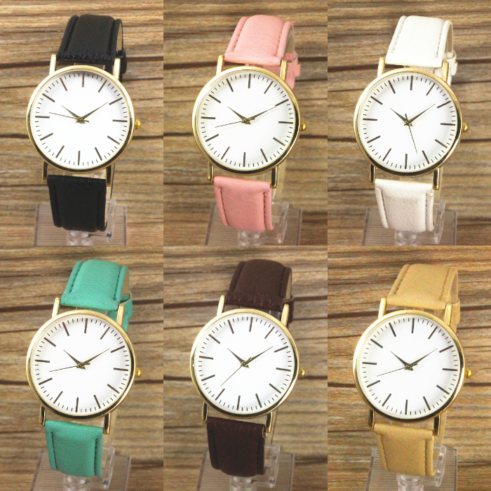 Japanese colorful leather vintage watch/sexy women picture
