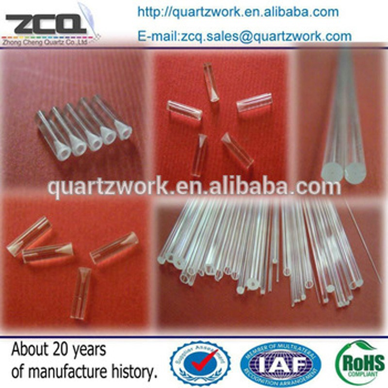 High Quality Pyrex Capillary Quartz Tube With Horn Mouth For Fiber
