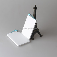 New credit card power bank for custom logo design 2000/2200/2600mah capacity choice