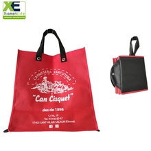 Custom Foldable Orange Image Reuseable Pp Non Woven Folding Shopping Bag