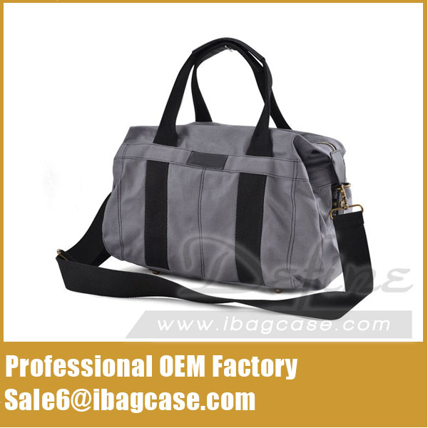 Model Type Canvas Tote Stylish Sports Duffle Bag Grey