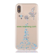 Shockproof TPU Glitter bling shiny mobile phone cases cover for iPhone X