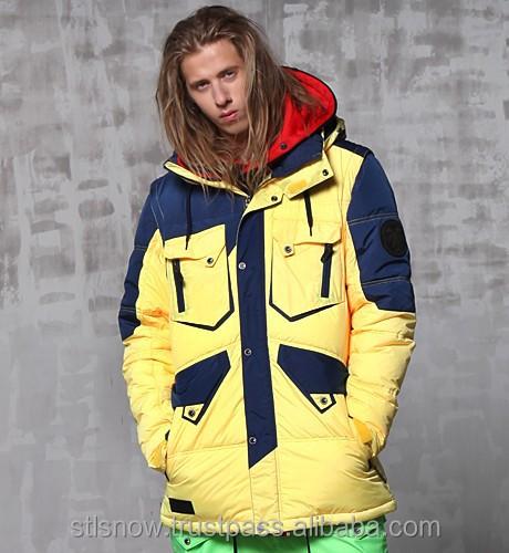 2014/2015 High quality Unisex warm Ski Snowboard jacket, Jazz Jacket Yellow/Navy