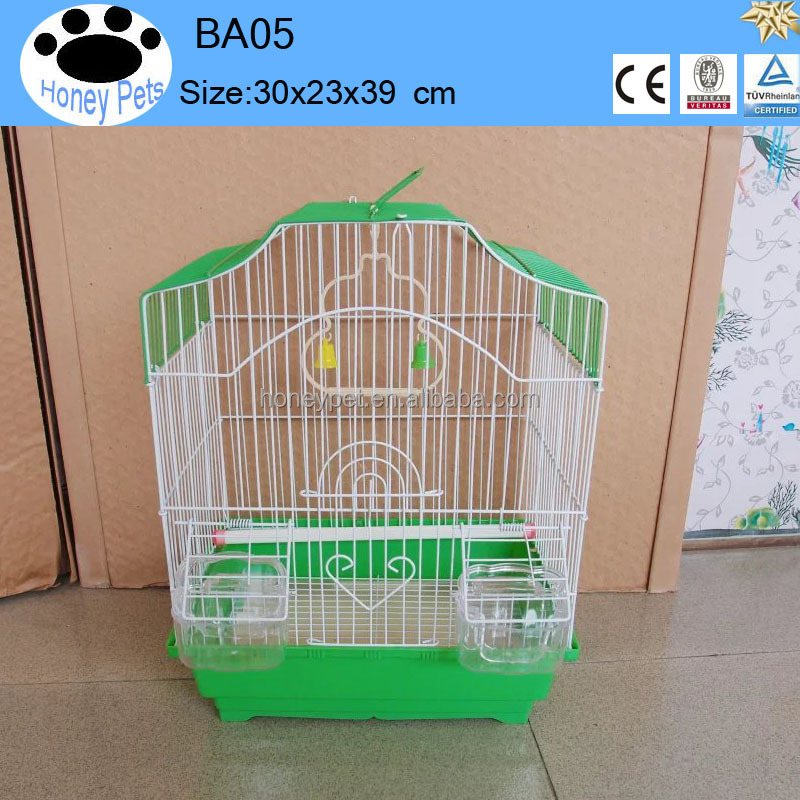 wholesale Green color metal foldable antique hanging bird cages