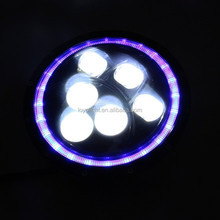 "7"" headlight with blue angel eye round shape for jeep SUV"
