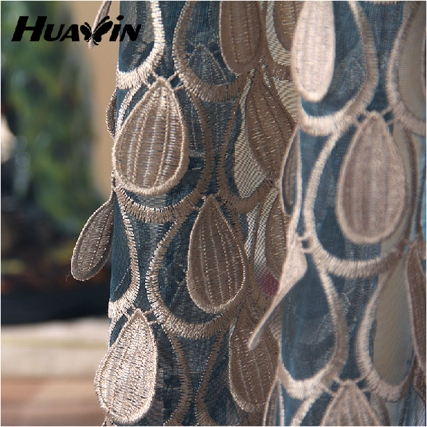 100% polyester High Quality turkish curtains sheers