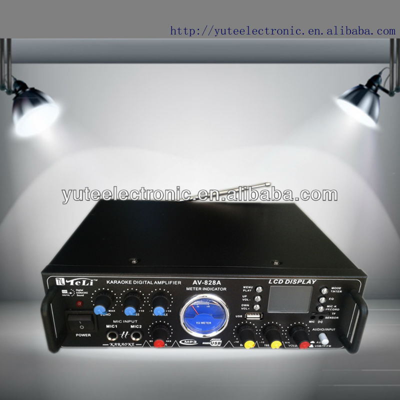 digital video mixer amplifier AV-828A support karaoke