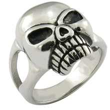 stainless steel skull man dead head ring