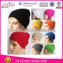 Men style free wholesale knitted beanie hat manufacturer