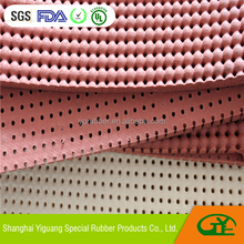 Perforated silicone foam rubber sheet