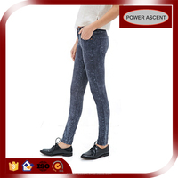 Sexy Stylish Women Mineral Wash Skinny Jeans Pants