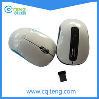 Cute Round Mini Wireless Mouse In White Color Mini Size Mouse