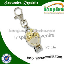 Metal finger nail cutter with gold plating