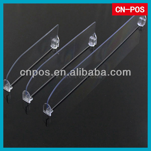 supermarket clear plastic shelf divider for goods display